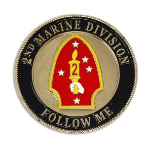 2nd Marine Division Follow Me Challenge Coin