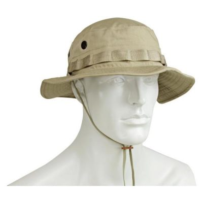 Khaki Boonie Cover Hat on Mannequin Bust