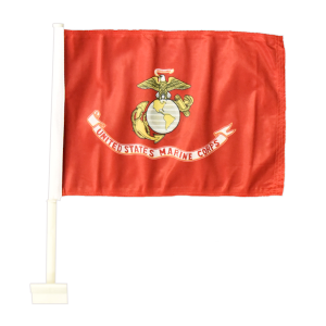 United States Marine Corps with Eagle Globe and Anchor Nylon Car Flag