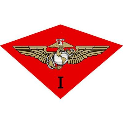Red 1st Marine Air Wing Decal