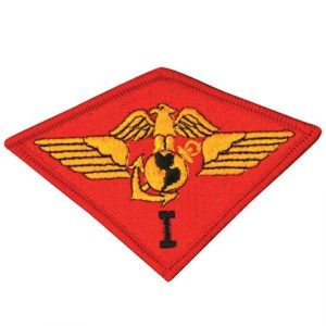 Red 1st Marine Air Wing Patch