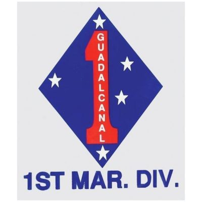 Blue Diamond 1st Marine Division Decal