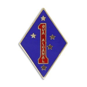 Blue Diamond 1st Marine Division Enamel Pin