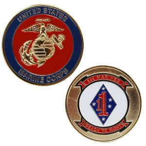 Red and Blue 1st Marines Ready To Fight Coin