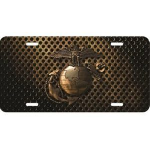 3D U.S. Marines EGA License Plate