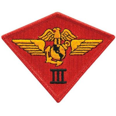 Red 3rd Marine Air Wing Patch