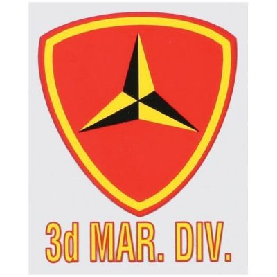 Red Shield 3rd Marine Division Decal
