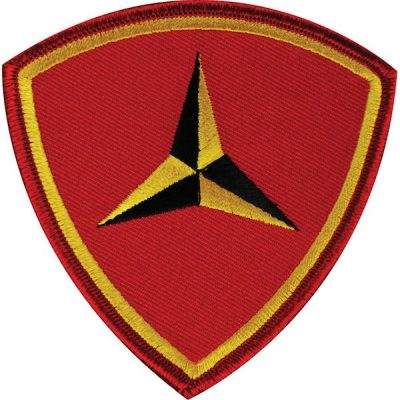 Red Shield 3rd Marine Division Patch