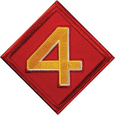 Red Diamond 4th Marine Division Patch
