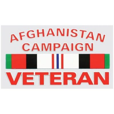 Afghanistan Campaign Veteran with Ribbons Decal