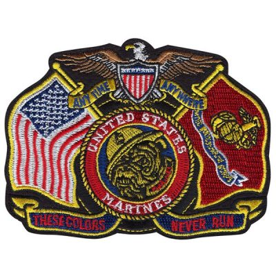 Anytime Anywhere United States Marines Flags Patch