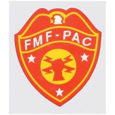 Red and Gold Fleet Marine Force Pacific Decal