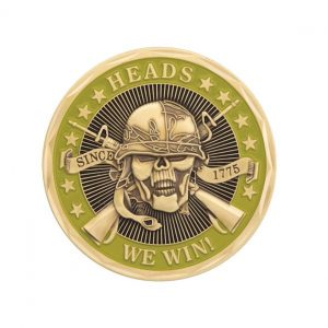 Skull and Cross Bones Heads We Win Coin