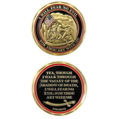 Psalms 23 I Will Fear No Evil Iwo Jima Coin