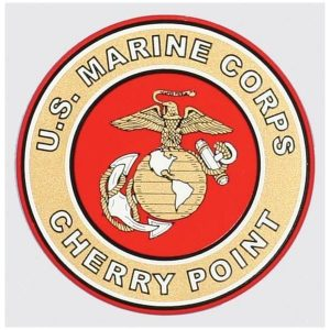 Red and Gold US MCAS Cherry Point Decal
