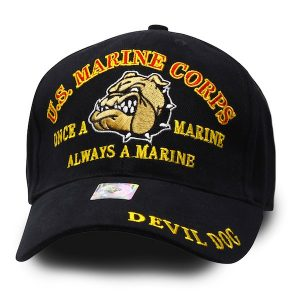Marine Corps Devil Dog Once a Marine Hat