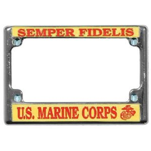 Marine Corps Motorcycle License Plate Frame