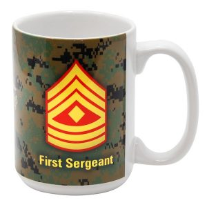 Marine First Sergeant Rank Digital Camo Mug