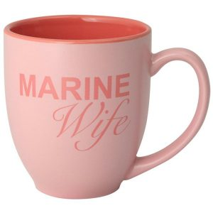 Pink Marine Wife Bistro Coffee Mug