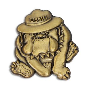 Marines Bulldog Drill Instructor Hat Pin