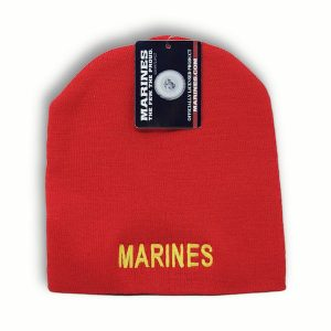Red Marines Beanie Watch Cap