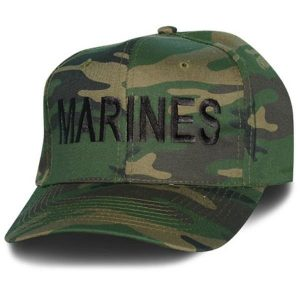 Woodland Camo Marines Hat