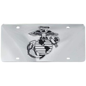 Mirror Inlaid US Marine Corps EGA License Plate
