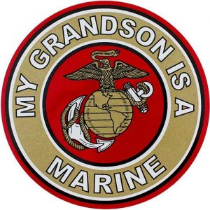 My Grandson Is A Marine EGA Emblem Decal