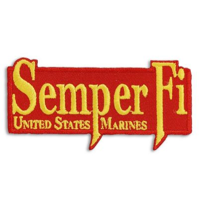 Red and Gold Semper Fi United States Marines Patch