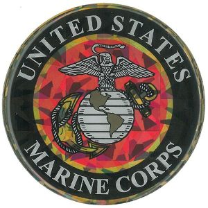 Reflective US Marine Corps Emblem Domed Decal