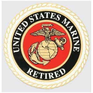 United States Marine Retired with EGA Decal