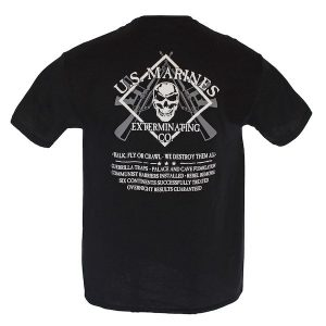 US Marines Exterminating Co Black T Shirt