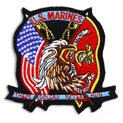 US Marines These Colors Never Run Eagle Head Patch