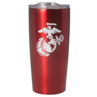 Metallic Red Eagle Globe and Anchor Insulated Tumbler