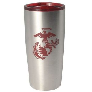 Stainless Steel Red Eagle Globe and Anchor Insulated Tumbler Med Image