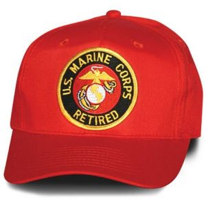 Red US Marine Corps Retired Veteran Hat