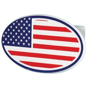 United States of America Flag Oval Hitch Cover