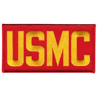 Red and Gold USMC Bold Rectangle Patch