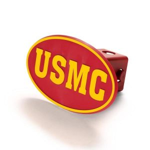 Red and Gold USMC Hitch Cover