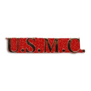 USMC Red And Gold Pin