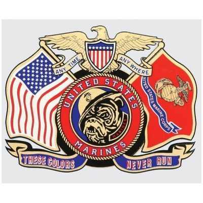 These Colors Never Run Flags and Devil Dog Decal