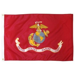 Red United States Maring Corps EGA Flag