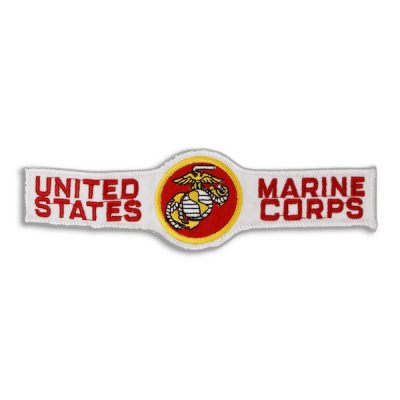 United States Marine Corps 6.5 White Tab Patch