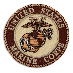 Desert Red United States Marine Corps EGA Rount Patch