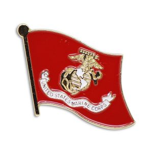 Red United States Marine Corps Flag Enamel Pin
