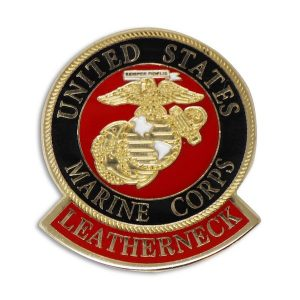 US Marine Corps Emblem with Leatherneck Enamel Pin