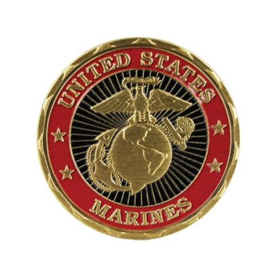United States Marines First Strike Coin back