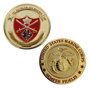 1st Battalion 5th Marines Make Peace or Die Coin