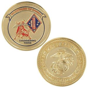 Thundering Third 3rd Battalion 1st Marines Coin