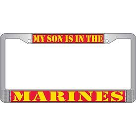 My Son Is In The Marines License Plate Frame